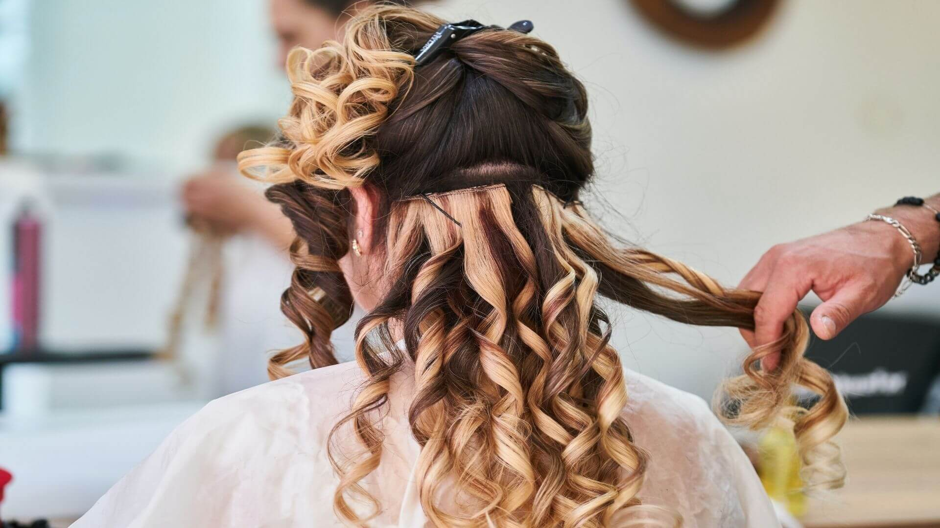 Long Curly Formal Updo Hairstyle